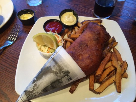 Waterfront Warehouse Restaurant: Haddock and chips - Waterfront Warehouse