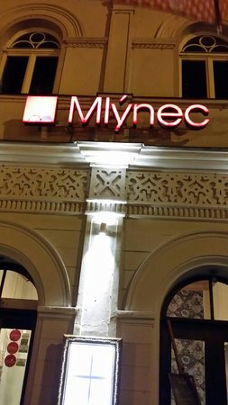 Mlynec restaurant just located in Charles bridge