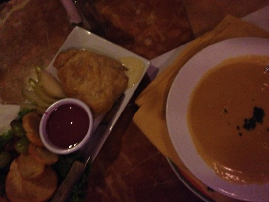 Tropics: Brie Appetizer and Bowel of Lobster Bisque