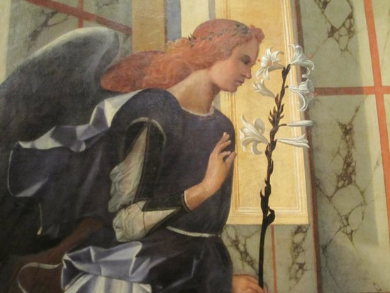 Gallerie dell'Accademia : Detail from one of the most beautiful Annunciations in the museum