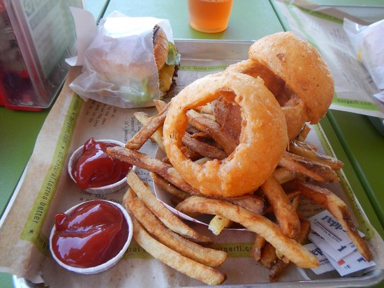 BurgerFi: Cries and Fries (Onion rings and Fries)