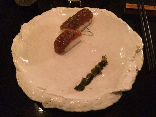 Wasabi: Yellowfin tuna(delightful) , mitsuba, he she ho raw soy and the most amazing freshly grated (DIY