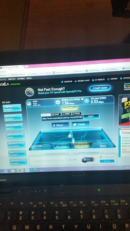 Comfort Suites South Burlington: Speed test of WiFi: this was the highest of several tests