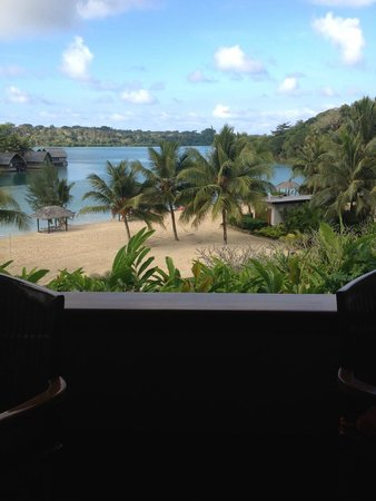 Holiday Inn Resort Vanuatu : View from our breakfast table at The Balcony Restaurant