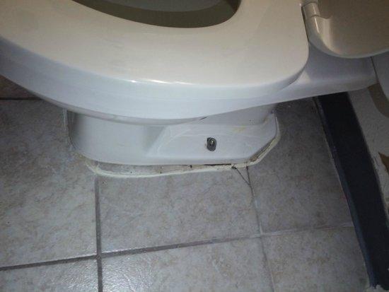 Super 8 Wyoming/Grand Rapids Area: Toilet falling apart