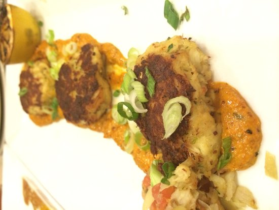 Chicago Marriott at Medical District/UIC: Crab cakes