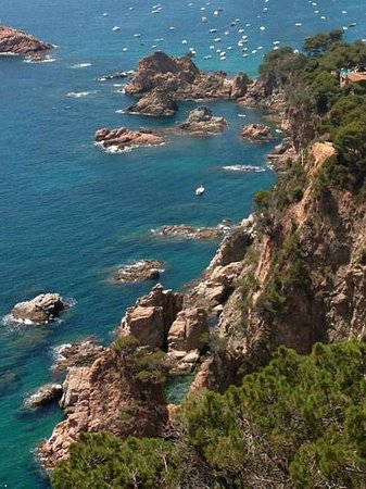 Pals, Spain: View from the Steep Coast route with Canigou Cycling