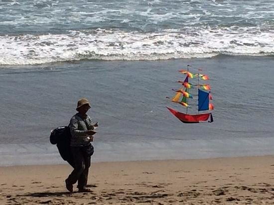 The Legian Bali: a kite seller on the beach