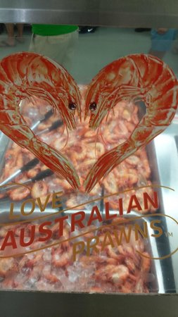 Peter's Fish Market: Lovely fresh QLD prawns