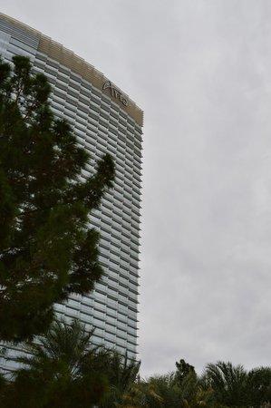 ARIA Resort & Casino: hotel from pool