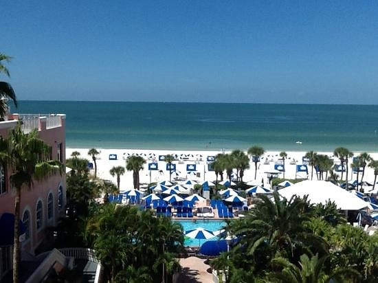 Loews Don CeSar Hotel: this was the view from our 4th floor room.