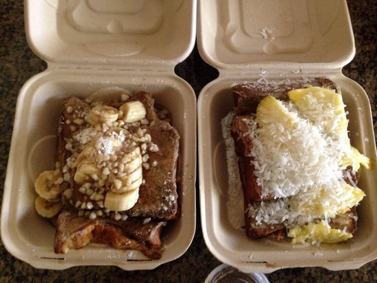 Kihei Caffe: French toast take out