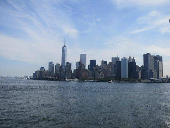 Statue de la liberté : Вид на Манхэттен с парома