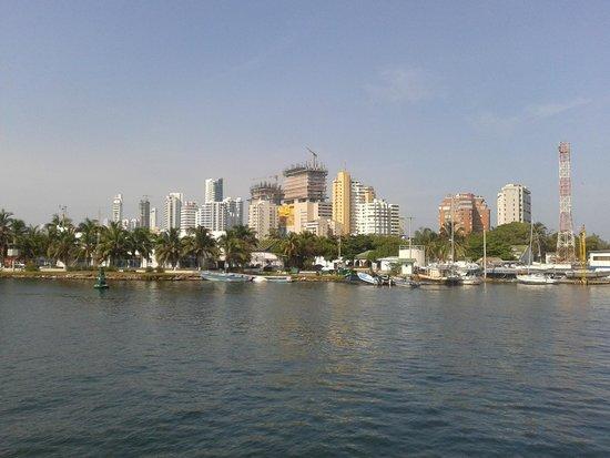 Tours in Rosario islands: Saliendo de Cartagena