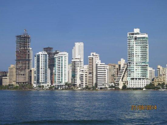 Tours in Rosario islands : Así se ve Boca Grande desde el mar.