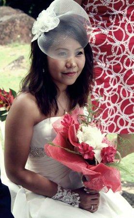 wedding of a client in Daniella's Bungalows Garden