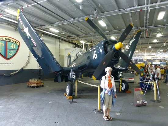 USS Midway Museum: WWII Corsair - great fighter!