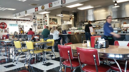 Debby's Diner: Step inside and you're in the 1950s.