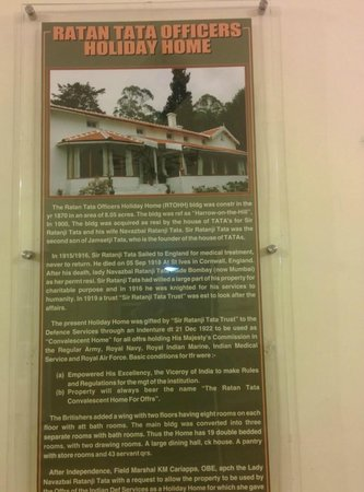 Ratan Tata Officers Holiday Home (RTOHH): History of the lace