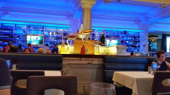 View of the bar from our table, The Oceanaire Seafood Room | 40 ...
