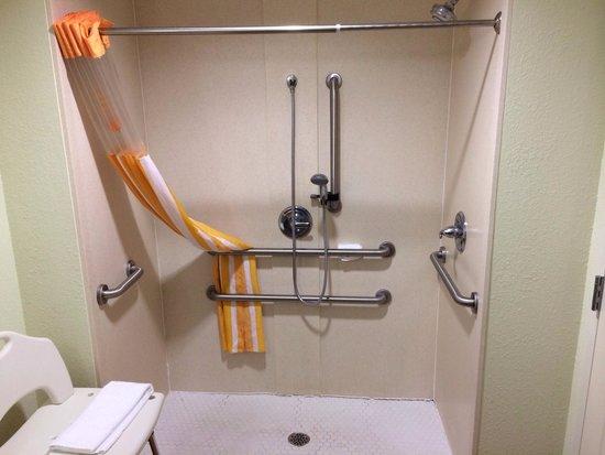 La Quinta Inn & Suites Baton Rouge Denham Springs: King ADA Shower