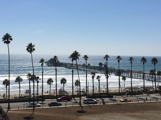 SpringHill Suites San Diego Oceanside/Downtown: View of the beach from my room (509)