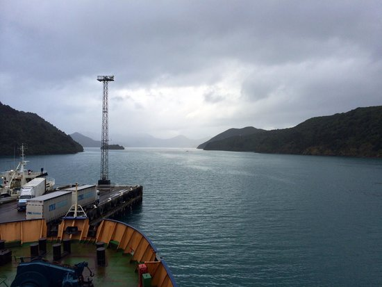 Bluebridge Cook Strait Ferry: View from ferry before departure