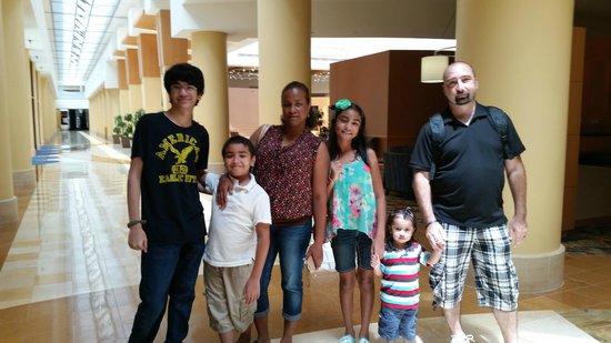 Orlando World Center Marriott: My family having a wonderful time at Marriott World Center Resort.