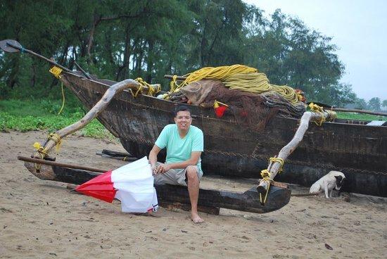 The LaLiT Golf & Spa Resort Goa: the boat on beach