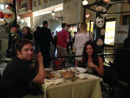 The Venetian Las Vegas : Restaurante na Piazza San Marco