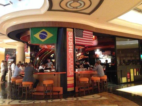 The Venetian Las Vegas : Sushi bar na área de circulação do Resort