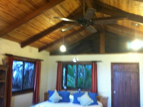 Bosque del Cabo Rainforest Lodge: Rooms came with ceiling fans.