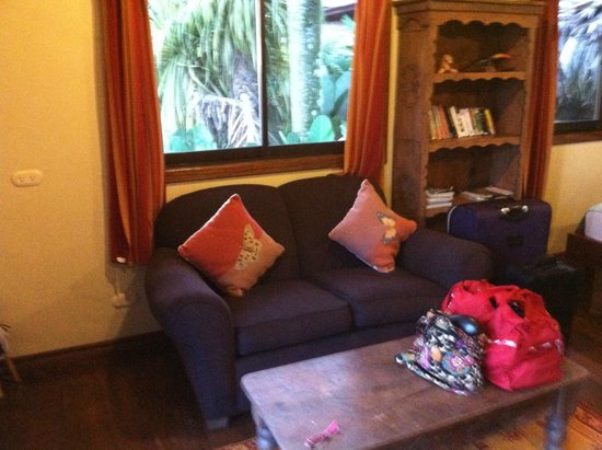 Bosque del Cabo Rainforest Lodge: This is the sitting area.
