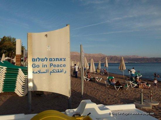 Eilat Marina : La plage