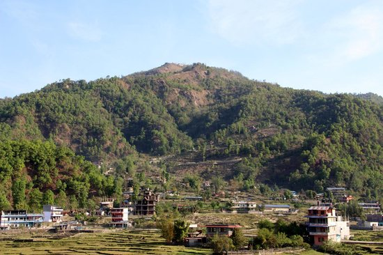Waterfront Resort Hotel: View of Sarangkot from the hotel