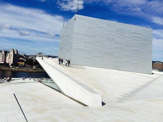 The Norwegian National Opera & Ballet : Reminiscent of a ski slope