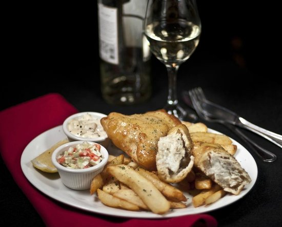 The Burren: Fish & Chips with house made coleslaw and tartare sauce