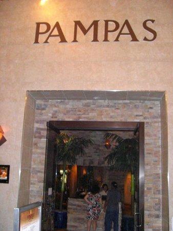 Pampas Brazilian Grille: The entrance.