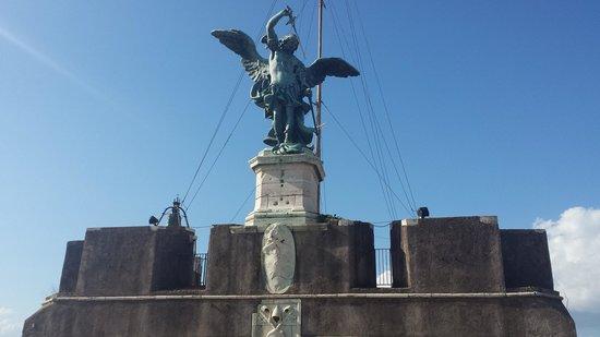Castillo de Sant'Angelo: Archangel Michael (on top of the Castel)