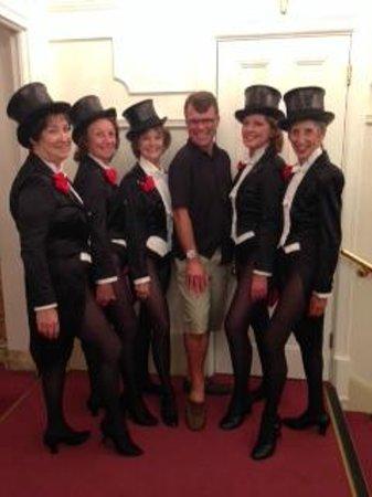 London Palladium: Dean Caston with The Tiller Girls