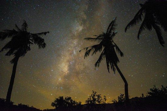 Taiwan Juhu Farmstay: 肉眼看時只看到很明亮的白色銀河,透過相機竟然看到五光十色的銀河,美極了!