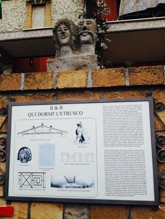 B&B Qui dormi l'Etrusco: Ingresso