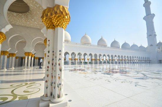 Mezquita Sheikh Zayed: interieur cour centrale