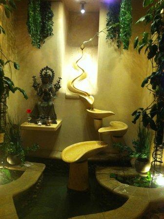 Maitrea: Lower dining room fountain.