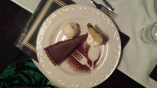 Corsewall Lighthouse Hotel: Chocolate and Chili Tart