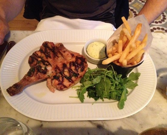 """Cote Brasserie - Manchester: half chargrilled """"Breton"""" chicken with frites"""