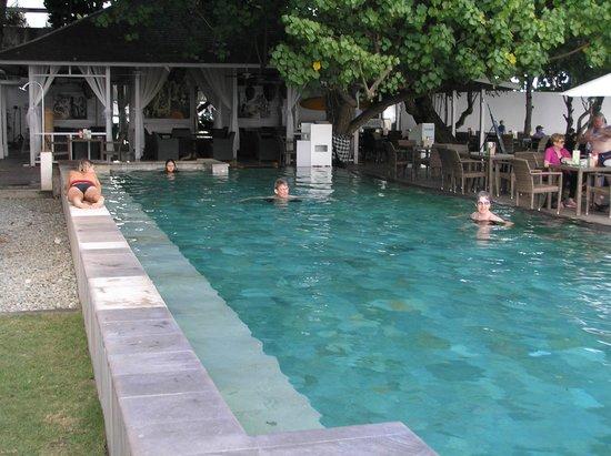 Bali Garden Beach Resort: Olga swimming her daily laps