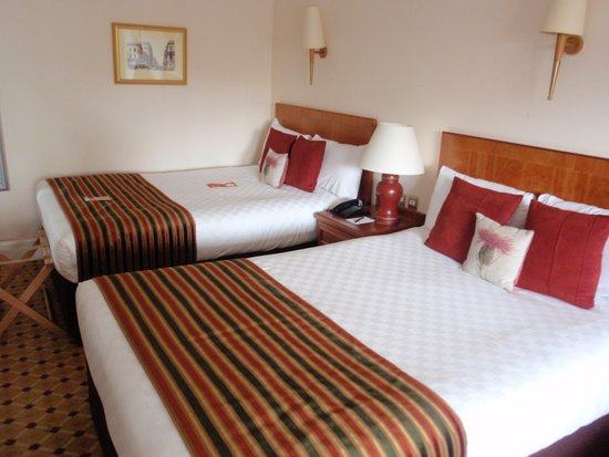 The Glasgow City Hotel: Two double beds in executive room