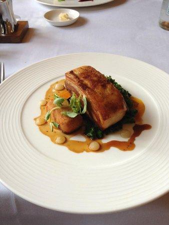 Bailbrook House: Main Course - Slow roast belly of pork