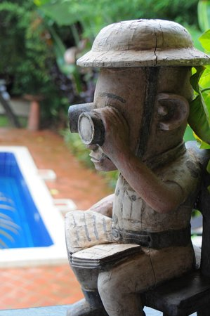 The Boma: detail on swimming pool view